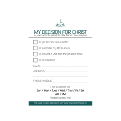 Decision for Christ Cards (25 PK)